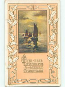 Divided-Back CHRISTMAS SCENE Great Postcard W9757
