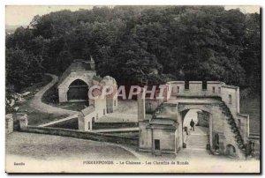 Old Postcard Pierrefonds Chateau Les Chemins De Ronde