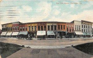 F47/ Charleston Illinois Postcard c1910 East Side Square Stores