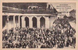 Germany Karlsbad (Karlsruhe) Muehlbrunnkolonnade Waehrend der Trinkzeit