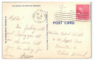 1952 Muir Field Parade Ground and Recreation Area, Indiantown Gap, PA Postcard