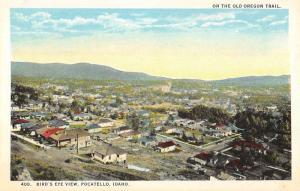 Pocatello Idaho Birdseye View Of City Antique Postcard K92955