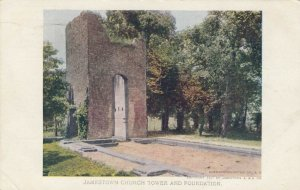 JAMESTOWN , Virginia, 1907 Exposition ; Jamestown Church Tower & Foundation