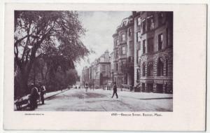 P241 JL 1901-7 postcard boston mass beacon street scene