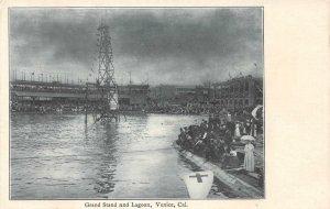 Grand Stand and Lagoon, Venice, California ca 1907 Vintage Postcard