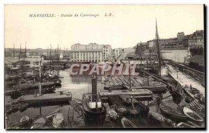 Old Postcard Marseille Basin Carrenage