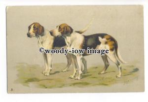 an0953 - Embossed, Hunting Hounds, No.6743, Artist U/K - postcard - Tuck's