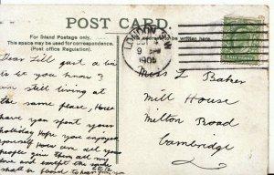Genealogy Postcard - Baker - Mill House - Milton Road - Cambridge - Ref 4632A