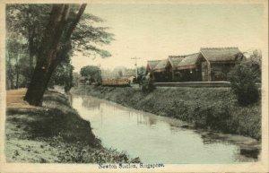 singapore, Newton Railway Station (1910s) Postcard