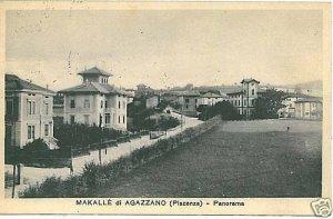 01038 CARTOLINA d'Epoca: MAKALE DI AGAZZANO -  PIACENZA