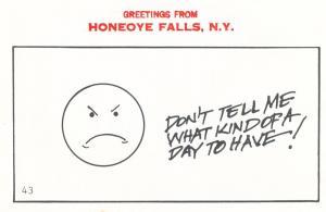 Greetings from Honeoye Falls NY, New York - Having Bad Day - Village Print Humor