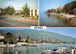 Croatia Icici, Port Bateaux Boats Harbour Street Cars Voitures