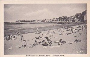 Massachusetts Rockport Front Beach and Bearskin Neck Albertype