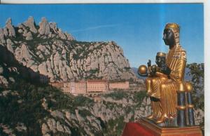 Postal 010380: La Moreneta y Montserrat al fondo