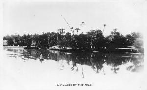 Sudan, A Village by the Nile River, Real Photo