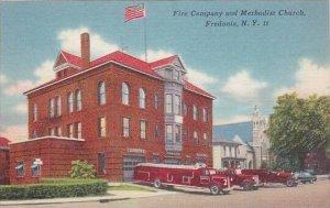 New York Fredonia Fire Department &  Methodist Church
