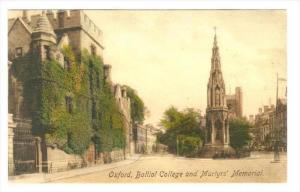 Balliol College & Martyr's Memorial, Oxford, England, UK, 1900-1910s