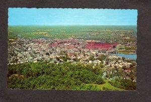 ME Aerial View Biddeford Saco Maine Postcard Mills Textile