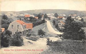 Marshfield MA Birdseye View From Zion's Hill Postcard