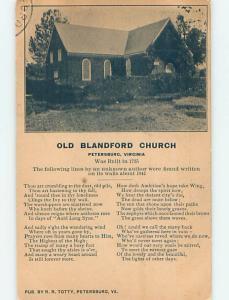Divided-Back CHURCH SCENE Petersburg Virginia VA p5171