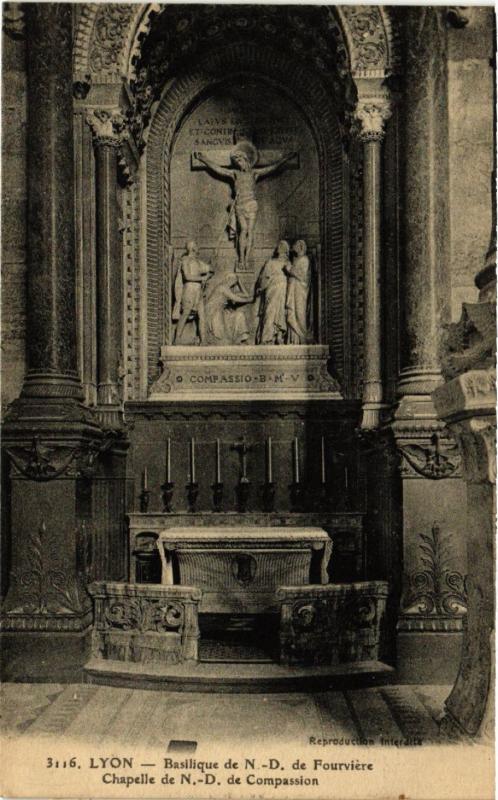 CPA Basilique de N. - D FOURVIERE - Chapelle de N.-D de Compassion (369986)