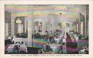 Mississippi Biloxi Hotel Buena Vista The Rose Room Interior Main Dining Room ...
