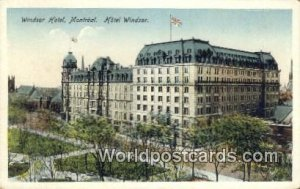 Windsor Hotel Montreal Canada Unused