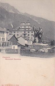 Switzerland CHamonix Monument Saussure