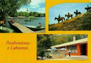 Poland Lubniewice Malownicza Miejscowosc Turystyczno Chemitex Horses Postcard