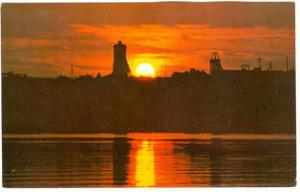 Lake and Mine at Sunset, Quebec, Canada, PU-1989