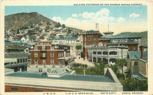 Bisbee Arizona Welfare Factories Warren Mining 1920s Postcard Teich 4577