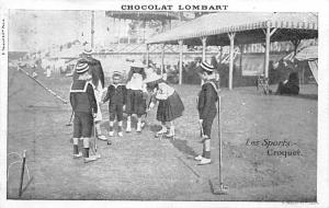 Chocolate Lombart Advertising, Croquet Carte Postale Postcard Unused