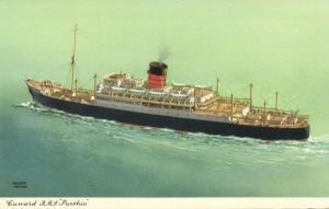 Cunard Line Steamer R.M.S. Royal Mail Steamer Parthia (1940s)