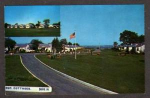 ME Somerset Cottages Motel in WELLS MAINE Postcard PC