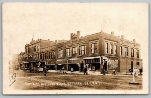 Spencer Iowa~East Side Business Block~Fraser Theatre~Grand~Rexall~1915 RPPC