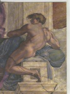 Postal 008301: Figura decorativa enl la capilla sixtina en Roma