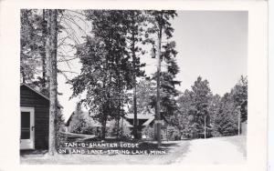 RP: SPRING LAKE, Minnesota, 1950's; Tam-o-Shanter Lodge On Sand Lake