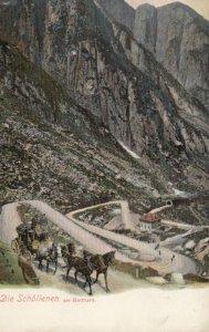 URI, Switzerland, 1900-10s; Die Schollenen am Gotthard