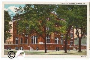 Vintage Linen Postcard. Y.M.C.A. Building Streator Illinois Historic Building