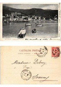 CPA SAN REMO veduta presa dal molo ITALY (532612)