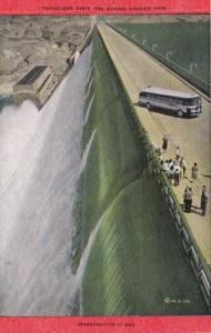 Washington Visitors At The Grand Coulee Dam On The Columbia Rver