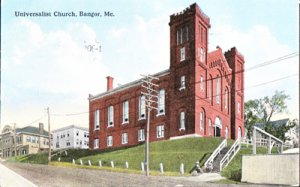Bangor ME - UNIVERSALIST CHURCH after fire of 1911 1910s