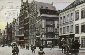 belgium, ANVERS ANTWERP, Un Coin de la Grand Place (1910)