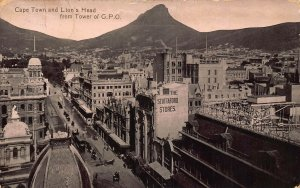 South Africa Cape Town and Lion's Head from Tower of GPO Postcard