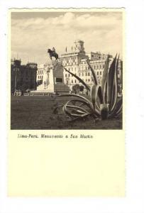 RP; Lima, Peru, 1910-30s ; Monumento a San Martin
