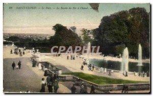 Postcard Old Saint Cloud Le Parc Le Bassin Du Fer A Cheval