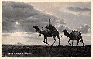 Eventide in the Desert Egypt, Egypte, Africa 1936