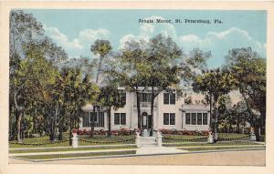 F7/ St Petersburg Florida c1915 Postcard Jungle Manor Building