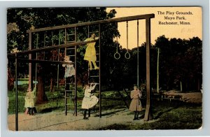 Rochester MN-Minnesota, The Play Grounds, Mayo Park, Vintage c1912 Postcard