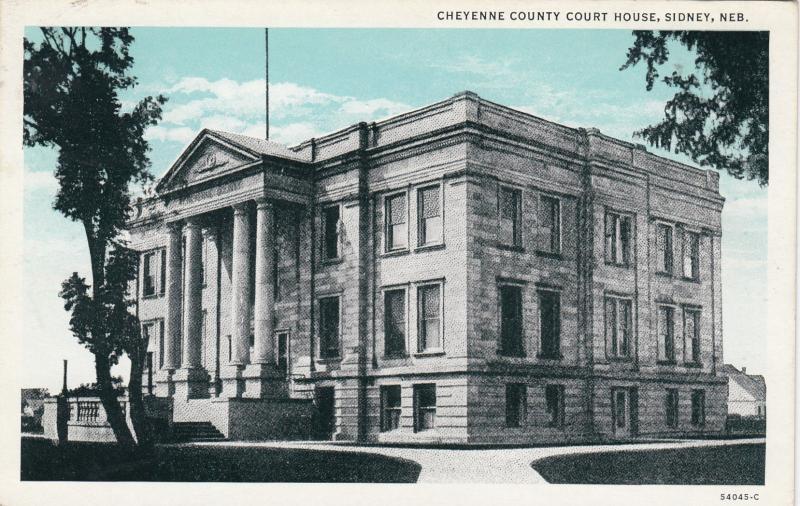 SIDNEY, Nebraska, 1910-20s; Cheyenne County Court House